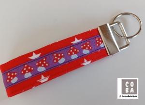 Schlüsselband Schlüssband * FLIEGENPILZ*  #mitLiebegenäht     - Handarbeit kaufen