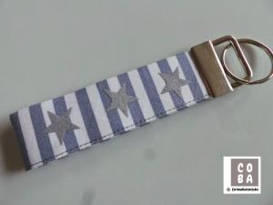 Schlüsselband Schlüssbund Schlüsselanhänger * STERNE*  #mitLiebegenäht   Geschenk kleines Mitbringsel   - Handarbeit kaufen