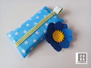 TATÜTA Taschentüchertasche blau mit weißen Sternen - mit Liebe genäht   - Handarbeit kaufen