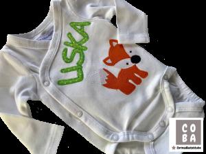 Body Babybody Wickelbody mit Wunschname Fuchs Geburtsgeschenk Taufgeschenk  - Handarbeit kaufen