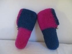 gefilzte Hausschuhe Größe 30 rosa blau
