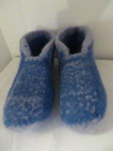 Filzhausschuhe Größe 30 bis 31 hellblau und grau