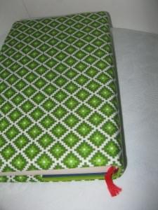 Buchhülle Grüne Rauten