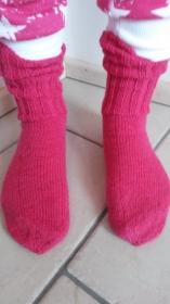 Socken PINKY Größe 39 handgestrickt