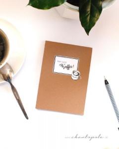 Aber zuerst Kaffee! Notizblock, To-Do Liste, Abreißblock, handgemacht
