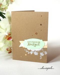 Glückwunschkarte zur Hochzeit mit Orchideen