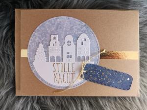★Weihnachtskarte★ STILLE NACHT II mit Briefumschlag, aus Recyclingpapier