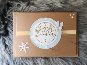 Weihnachtskarte ★ WEIHNACHTSZAUBER ★ mit Briefumschlag, aus Recyclingpapier - Handarbeit kaufen