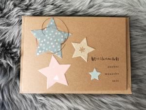 Weihnachtskarte ★ WEIHNACHTSZAUBER ★ mit Briefumschlag, aus Recyclingpapier, Graspapier