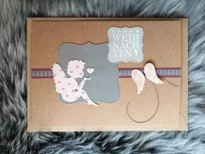 Weihnachtskarte ★ ENGELCHEN ★ mit Briefumschlag, aus Recyclingpapier - Handarbeit kaufen