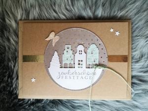 Weihnachtskarte ★ FESTTAGE ★ mit Briefumschlag, aus Recyclingpapier