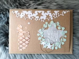 Weihnachtskarte ★ STERNTALER ★ mit Briefumschlag, aus Recyclingpapier