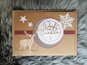 Weihnachtskarte ★ WEIHNACHTSZAUBER I ★ mit Briefumschlag, aus Recyclingpapier - Handarbeit kaufen