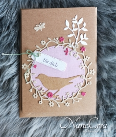 Grußkarte für dich ♡ VOGEL ♡ mit Briefumschlag, aus Recyclingpapier, handgemacht - Handarbeit kaufen
