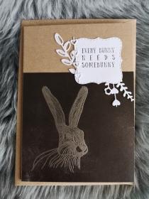 Grußkarte ♡ EVERY BUNNY ♡ mit Briefumschlag, aus Recyclingpapier, handgemacht - Handarbeit kaufen