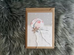 Weihnachtskarte ★ WINTERZEIT ★ mit Briefumschlag, aus Recyclingpapier - Handarbeit kaufen