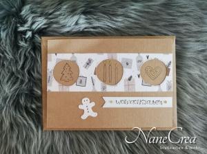 Weihnachtskarte ★ WEIHNACHTSZAUBER ★ mit Briefumschlag, aus Recyclingpapier, handgemacht - Handarbeit kaufen