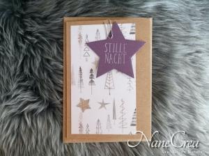 Weihnachtskarte ★ LILA ★ mit Briefumschlag, aus Recyclingpapier, handgemacht - Handarbeit kaufen