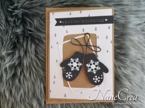 Weihnachtskarte ★ WEIHNACHTSGRÜSSE ★ mit Briefumschlag, aus Recyclingpapier, handgemacht