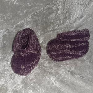 Babyschühchen lila Wärme