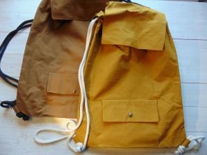 Rucksack aus Dry Oilskin