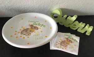 Ostern ♥ Tortenplatte ♥ Kuchenplatte ♥upcycling ♥ Unikat - Handarbeit kaufen