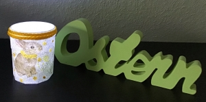 Ostern ♥  Teelichthalter  ♥ Dekoglas ♥️ Osterhase ♥ upcycling ♥ Unikat   - Handarbeit kaufen