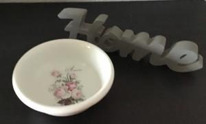 Porzellan ♥ Keksschale  ♥️ Bonbonschale ♥ upcycling ♥ Unikate - Vintage Rosen - Handarbeit kaufen