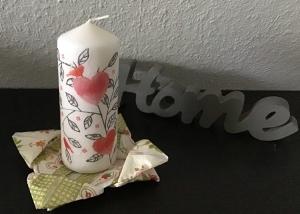 ♥ Kerze ♥ Herzen ♥ Geschenk ♥️ upcycling ♥ Unikat - Herzen mit Vögeln - Handarbeit kaufen