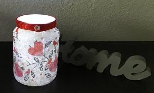 ♥ Teelichtglas ♥ Herzen ♥️ Geschenk ♥️ upcycling ♥ Unikat - Herzen mit Vögeln  - Handarbeit kaufen