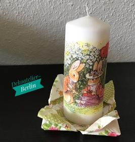 Ostern ♥ Kerze ♥ Ostertisch  ♥ upcycling ♥ Unikat  -Ostern Päarchen - Handarbeit kaufen