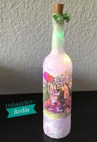 ♥ Leuchtflasche ♥ Ostern ♥ Geschenk ♥️ upcycling ♥ Unikat - Oster Päarchen - Handarbeit kaufen