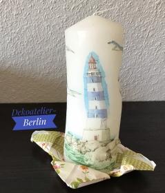Kerze  groß ♥ Einzigartig♥ Geschenk ♥ upcycling ♥ Unikat  - Maritim  - Handarbeit kaufen