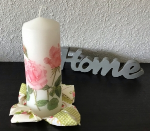 Kerze  groß ♥ 17 cm ♥️ Einzigartig♥ Geschenk ♥ upcycling ♥ Unikat  - schön das es ... - Handarbeit kaufen