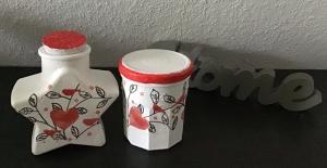Aufbewahrungsgläser 2 er Set ♥  handmade ♥️ upcycling ♥ Unikat - Herz mit Vögeln - Handarbeit kaufen