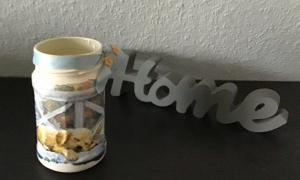 Teelichtglas ♥ Aufbewahrung ♥️ Geschenk ♥️ upcycling ♥ Unikat - schlafender Hund - Handarbeit kaufen