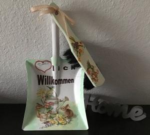 Kehrbesen Set ♥ handmade ♥️ einzigartiges Geschenk ♥️ Unikat -  Hase und Kanne