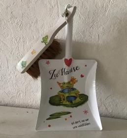 Kehrbesen Set ♥ handmade ♥️ einzigartiges Geschenk ♥️Unikat - Frosch