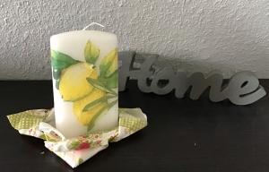 Kerze ♥ Einzigartig♥ Geschenk ♥ upcycling ♥ Unikat  -  Zitronen - Handarbeit kaufen