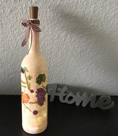 Leuchtflasche ♥ handmade ♥ Geschenk ♥️ upcycling ♥ Unikat - Meditarain - Handarbeit kaufen