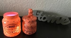 2er Set Teelichtglas ♥ Aufbewahrung  ♥️Geschenk  ♥️ upcycling ♥ Unikat - Home - Handarbeit kaufen
