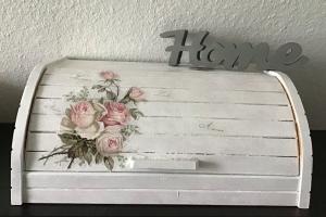 Brotkasten ♥ Aufbewahrung  ♥️Geschenk  ♥️ upcycling ♥ Unikat - Vintage Rosen - Handarbeit kaufen