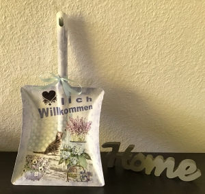 Müllschippe Deko ♥ handmade ♥️ einzigartiges Geschenk ♥️Unikat -  Katze - Handarbeit kaufen