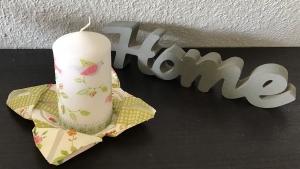 DuftKerze  Vanillie ♥ Einzigartig♥ Geschenk ♥ upcycling ♥ Unikat  - Vögel - Handarbeit kaufen