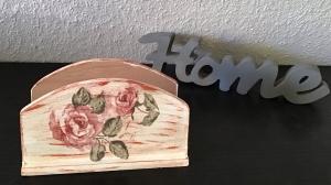 Serviettenständer ♥ shabby chic ♥️ einzigartiges Geschenk ♥️ Unikat - Rosen antik - Handarbeit kaufen