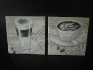 Dekofliese ♥ Untersetzer 2er Set ♥️ Einzigartig♥ Geschenk  ♥ upcycling ♥ Unikat Café - Handarbeit kaufen
