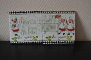 Dekofliese ♥️ Untersetzer 2er Set ♥️ Einzigartig♥ Geschenk  ♥ upcycling ♥ Unikat - Köche - Handarbeit kaufen