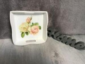 Serviertablett ♥ shabby chic ♥️ einzigartiges Geschenk ♥️ Unikat - Rosen - Handarbeit kaufen