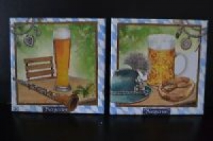 Dekofliese ♥ Untersetzer 2er Set ♥️ Einzigartig♥ Geschenk  ♥ upcycling ♥️ Unikate Bayrisch  2 - Handarbeit kaufen