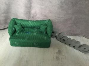 Deko-Sofa ❤️ Kosmetikbox Sofa ❤️ Taschentücherbox Sofa ❤️ Unikat -  Landhaus Stil grün - Handarbeit kaufen